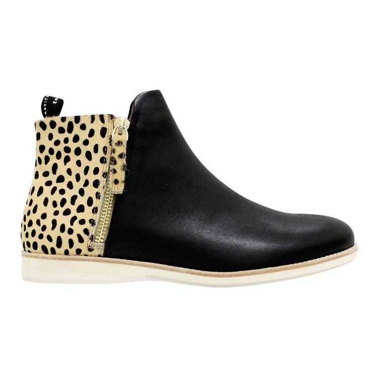 Picture of Side Zip Boot Black/ Cheetah